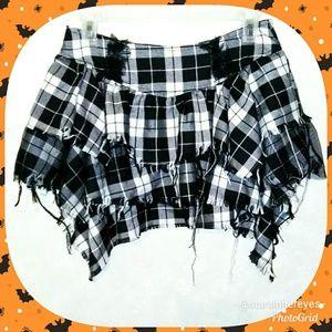 Hot Topic Plaid Skirt Punk Goth